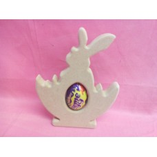 18mm MDF Easter Rabbit in a basket cream egg holder